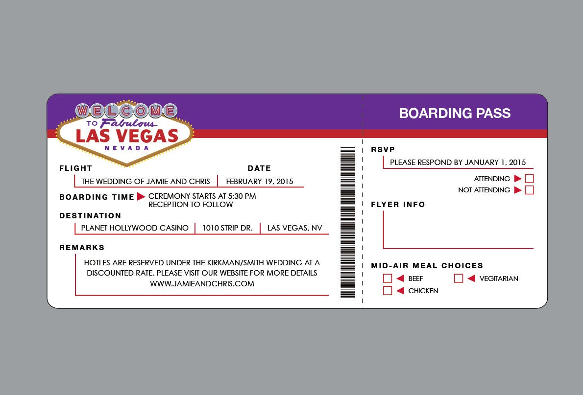 Hochzeitseinladungen Las Vegas Vintage Retro Las Vegas