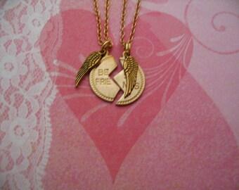 Best Friend Angel Wings Necklace Jewelry Gift