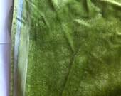 """42"""" wide 1/2 yard Olive Green Velour Upholstery"""