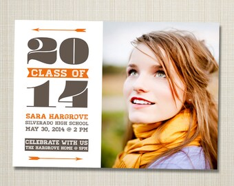 photo graduation announcement printable - skinny.