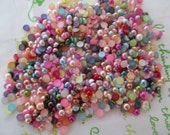 Pearlized round Cabochons 4 grams about 200pcs 4mm random mix