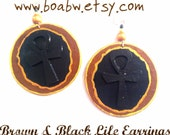 Brown & Black Life Earrings