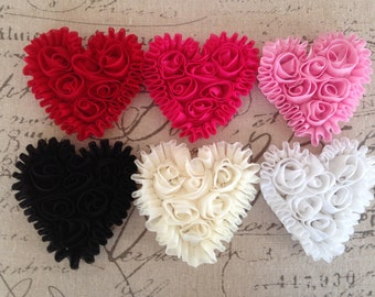 Shabby Hearts YOUR CHOICE OF 3 -3 inches