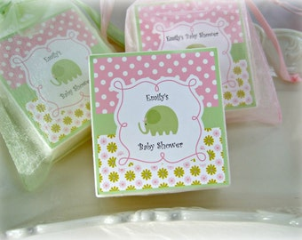 Baby Shower Favors, Elephant Favors, Baby Elephant, Baby Girl Favors, set of 10 soap favors