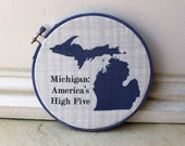 Hoop Art - Michigan: America's High Five