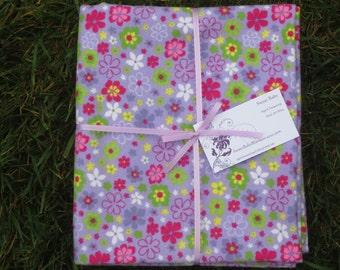 Extra Large Lavendar Floral Blanket - 34 x 40