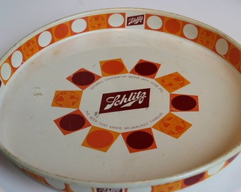 Schlitz Tray Vintage 1968 Brewing Company Milwaukee Wisconsin Beer Breweriana Superbowl Party Decoration