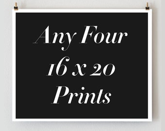 Any four 16x20 prints, Custom Paris Photography Collection