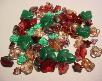 78pc Garden Mix of Czech Glass Beads #471 Discounted 50%