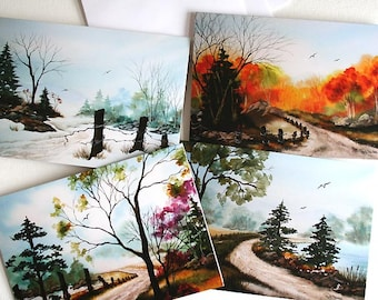 NOTE CARDS - Set of 4 my Country Road Series