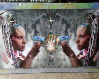 Maranda Mirror of the Soul 32 x 20 inch hanging Photographic Art by Holly Alexandra Lennox