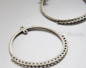 2pcs Antique Brass Tone Base Metal Multiple Hole Earring Findings - 54x52mm (20246Y-C-337)