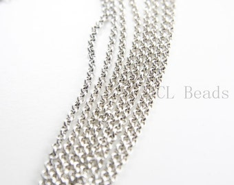3 Feet Oxidized Silver Plated Brass Base Chains-Rolo 3mm (420C01)