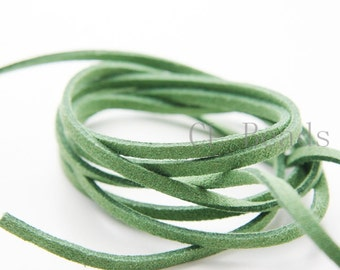 5 meters of Faux Suede - Emerald  2.5mm