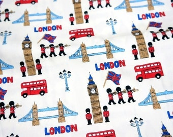 Japanese Fabric London theme Half meter nc45