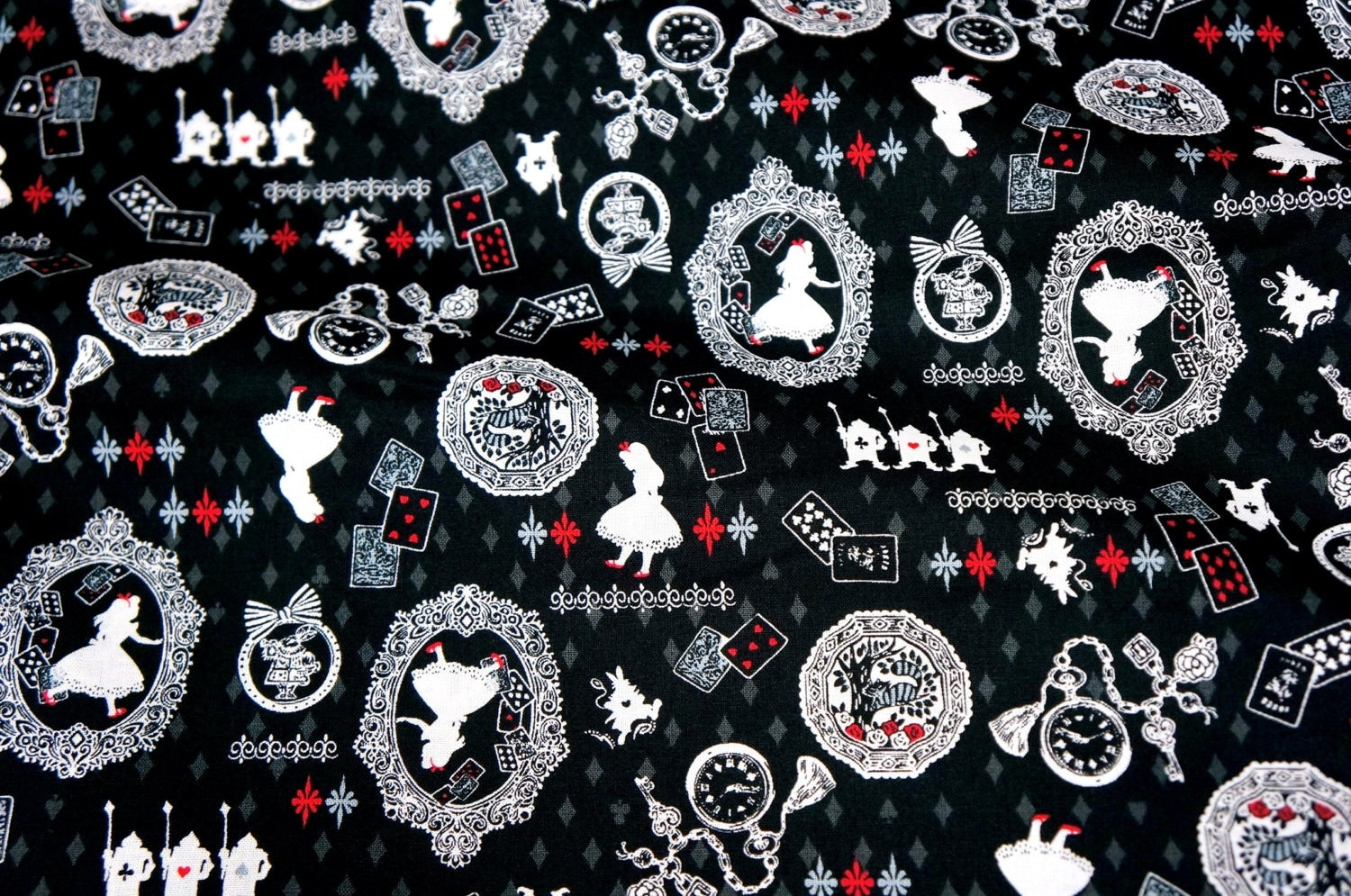 Alice in Wonderland Fabric by beautifulwork on Etsy - photo#21