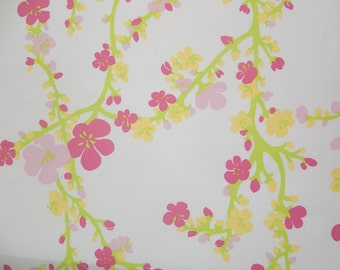 New Pillow Mw Lilly Pulitzer Hotty Pink Cherry Begonias Fabric