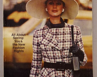 Vintage VOGUE Pattern International Book Fashion FEBRUARY MARCH 1971Rare Colorful great Condition Summer