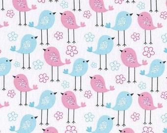 Clearance FABRIC BABY BIRD Parade Fabric  1/2 Yard