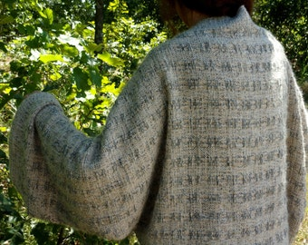 Handwoven Shrug, Wrap With Natural Fibers in Neutrals  Free Priority Shipping