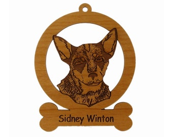 Australian Cattle Dog Pup Ornament 081361 Personalized With Your Dog's Name