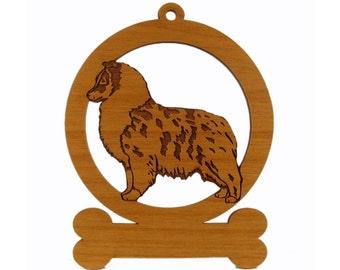 083934 Blue Merle Sheltie Pup Standing Dog Ornament