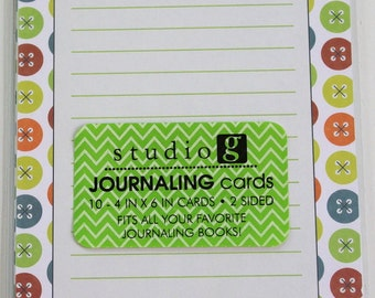 Studio G Journaling Cards - Scrapooking Embellishments
