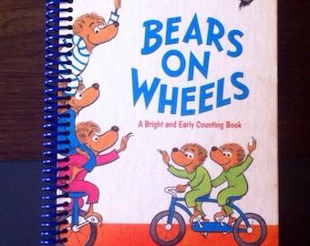 Bears on Wheels , Blank Book Journal or Sketchbook