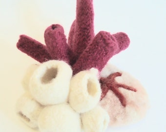 Coral Reef Wool Knitted Sculpture