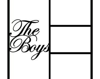 The Boys Scrapbooking Die Cut Overlay