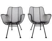 Pair of Woodard Sculptura Patio Chairs Mid Century Modern Eames