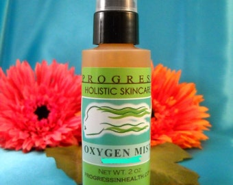 Natural Clarifying Oxygen  Facial Green Tea Mist  with Tea Tree and Neem  Vegan All Natural  Skin Care