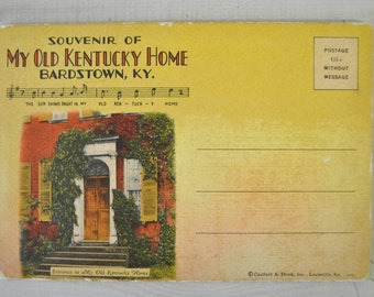 1950s vintage Souvenir Postcards of My Old Kentucky Home