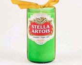 Green Candle Beer Light Stella Artois Beer Candle Bottle Made in Belgium Unscented Soy Candle Dining Beer Home Decor Belgian Beer Gift Lager