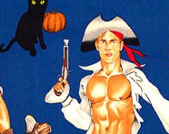 Halloween Haunting Hunks Alexander Henry Cotton Fabric