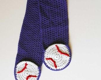 Baseball Pocket Crochet Scarf Pattern - PDF