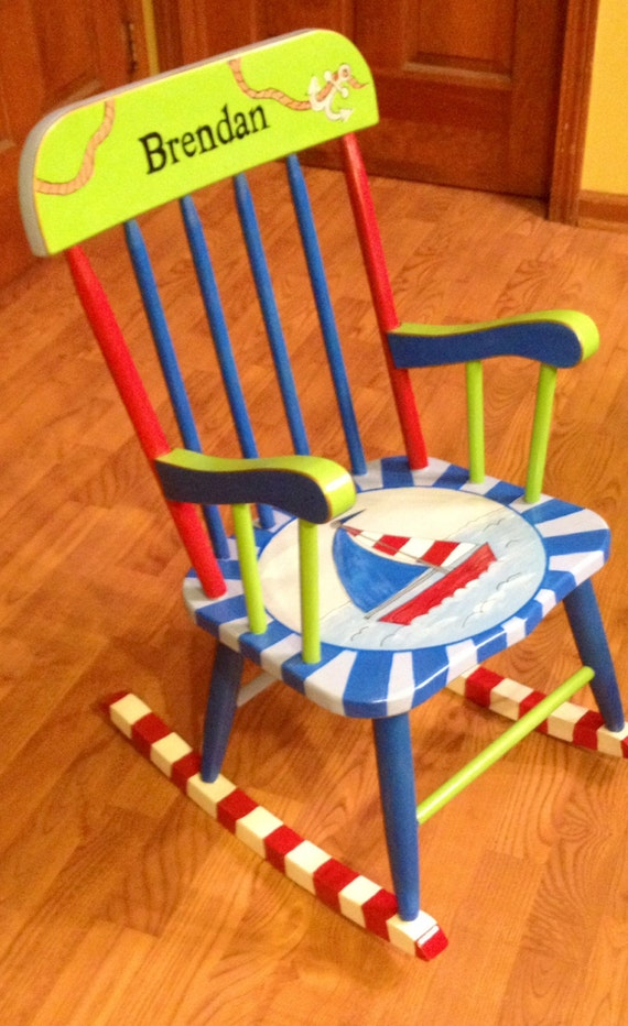 Child s hand painted rocking chair - Whimsical Painted Furniture Childrocking Chair Painted