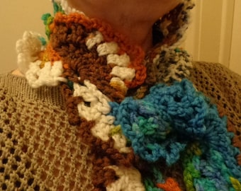 Multicolor lace scarf