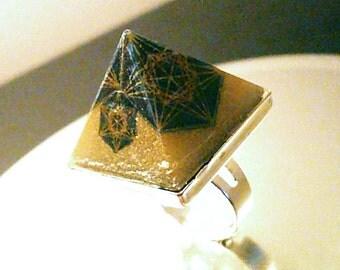 NEW  Metatron Energy Manifestation Orgone Pyramid Ring or Necklace