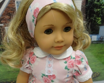 Valentine Rose - vintage style dress for American Girl doll