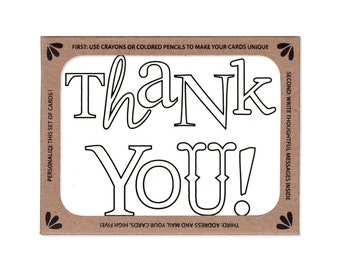 Boxed Set of Six Coloring Thank You Notes