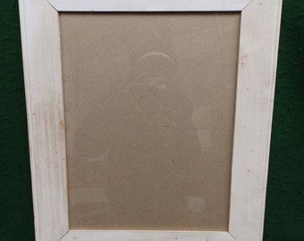 Shabby White Wood Picture Frame 11 x 14 Shabby Recycled chic S 1954-14