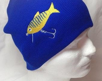 Deep Diving Fish Lure Beanie Skullcap Hat