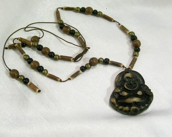 Buddha  Amulet Pendant Adjustable Necklace