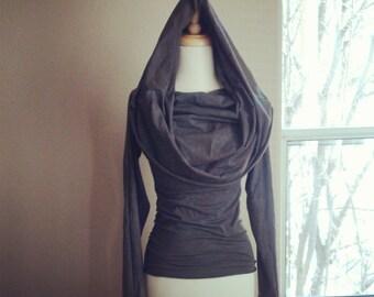 Backwoods Hemp Top/Hoodie (organic stretch jersey)