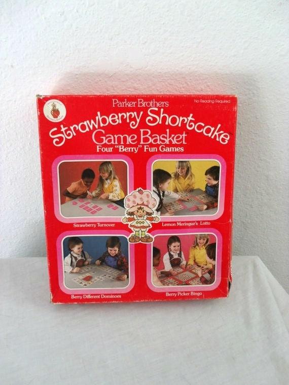 vintage Strawberry Shortcake game vintage board game 80s