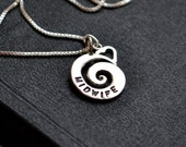 Midwife Heart Necklace Sterling Silver