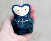 CYGNUS Ornament. Felt Owl Ornament. Gift for the Astronomer. Galaxy Decor Handmade by Ordinary Mommy Design on Etsy