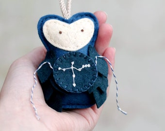 CYGNUS Ornament. Felt Owl Ornament. Gift for the Astronomer. Galaxy Decor Handmade by Ordinary Mommy Design on Etsy