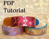 Paper Bracelet Cuff Tutorial PDF